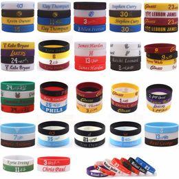 basketball silicone 2019 - 100pcs Mix Basketball Player NBAstar Silicone Bracelet High Quality Wristband discount basketball silicone