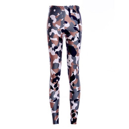 size camouflage leggings UK - Elastic Casual Pants 3D Digital Printing Camouflage handsome Pattern Women Leggings 7 sizes Fitness Clothing Free Shipping