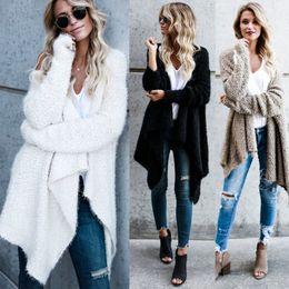 4d4b1ec41e Ladies cardigan knitting patterns online shopping - Long Sleeve Womens  Ladies Warm Casual Wool Blends Women