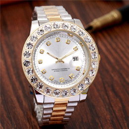 Wholesale Reloj Hombre luxury mens watches diamond wristwatch fashion famous brand Business men gold watch automatic daydate President master clock