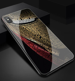 avengers phone cases 2020 - Tempered Glass Iron Man Avengers Case for iPhone X XS MAX 8 7 Plus Shockproof Hard Mirror Vintage Phone For iphone 11 PR