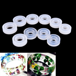 tool shaped molds NZ - Circle Design Silicon Round Shape Ring Jewelry Molds Making Tool Transparent DIY Mould Epoxy Resin 10 Pcs Lot Wholesale