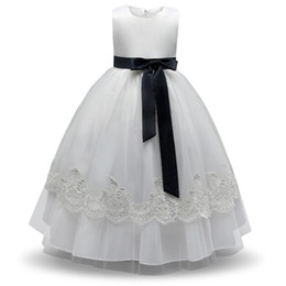 $enCountryForm.capitalKeyWord UK - Formal Baby Girl Dress Evening Prom Gown New Designs Kids Clothes Lace Princess Girl Party Dress White Flower Girl Wedding Dress