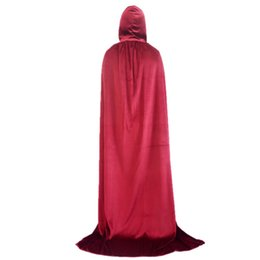 $enCountryForm.capitalKeyWord UK - Mens Halloween Cape Death God Velvet Hooded Gown Robe Women Men Kids Party Cospaly Cape Robe Cloak Costume Accessories 6 Colors