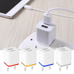 Wall Dual Ac Charger Canada - High Quality US Plug 5V 2.1 1A Dual USB AC USB Charger Wall Power Adapter for ipad iPhone Samsung HTC Cell Phones