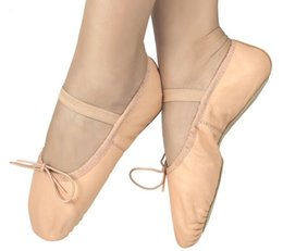 Unisex Ballet Flats Canada - 2018 high quality leather ballet shoes cat claw shoes adult women's soft bottom ballet shoes