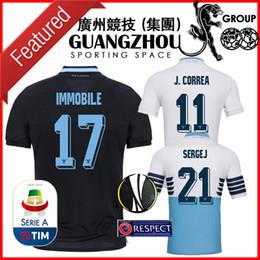 18 19 LAZIO Camisolas de futebol da UEFA Europa League home J.CORREA 11 BADELJ 25 2018 SERGEJ 21 2019 camisola LUIS ALBRTO 18 camisas de futebol
