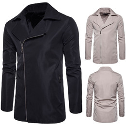 $enCountryForm.capitalKeyWord NZ - Fashion Men Long Jacket Clothing Autumn Winter Coat Zipper Up Jackets Stand Down Collar Outwear H8