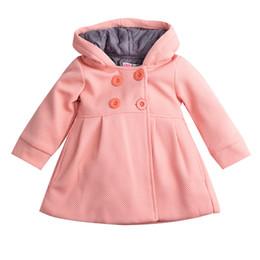 $enCountryForm.capitalKeyWord NZ - Pudcoco Windbreaker Children Baby Girls Jacket Toddler Uniform Long Sleeve Button-Front Hooded Jacket