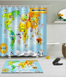 World map shower curtain australia new featured world map shower the world map pattern 3d print custom waterproof bathroom modern shower curtain polyester fabric bathroom curtain door mat sets gumiabroncs Gallery