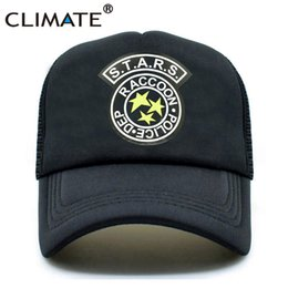 Discount resident evil umbrella corporation - CLIMATE Men Summer Trucker Caps Resident Evil Raccoon City Mesh Cap Zombie Outbreak Umbrella Corporation Youth Baseball