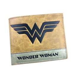 card holder wholesale NZ - Wonder Woman DC Anime Wallet Fashion Casual Short Purse More Card Holder Folding Style Money Bag For Teens Girl Student