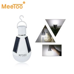 Wholesale Solar LED Lamp Bulb E27 Portable Lanterns Solar Energy Lamp Rechargeable Home Outdoor Lighting Camping Tent Fishing Night Light