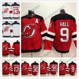 New Jersey Devils  13 Nico Hischier 9 Taylor Hall 30 Martin Brodeur 35  Schneider Blank Red White Mens Womens Youth Kids 2018 Hockey 6eabdc101