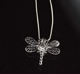 7add10808042 8 Fotos Compra Online Colgantes de plata libélulas-Nueva Plata Plateado  Gran Libélula Perlas Jaulas Colgantes Oyster