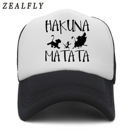 31d11d99ac54b HAKUNA MATATA Lion King Simba Summer Baseball Cap Truck Mesh Cap Hats For  Men Women Snapback Gorras Hombre Hats Casual Dad Bone