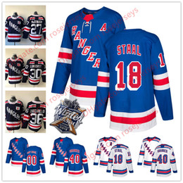 New York Rangers  18 Marc Staal 40 Michael Grabner 31 Ondrej Pavelec 28  Paul Carey Light Blue White 2018 Winter Classic Navy Jerseys f997b817c