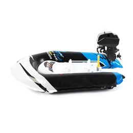 toys boats NZ - Leadingstar Children Inflatable Bath Toys Wind up Printing Dinghy Toy Mini Inflatable Boat with Pump Random Color Fashion zk15
