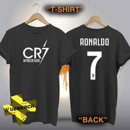 9742caccad3 Tee Shirt For Men O-Neck Tops Male Factory Outlet Cristiano Ronaldo CR7  Forza New T-shirt