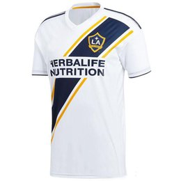 galaxy soccer uniforms 2018 - Sewn Logoes MLS 2018 LA Galaxy Soccer Jersey Home white soccer Shirt #9 IBRAHIMOVIC #10 GIOVANI KAMARA LA Galaxy footbal