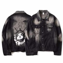 t shirts for men winter 2019 - 2018 mens designer t shirts OFF-WHI-E mens Denim jackets men's Outerwear Autumn winter hoodies coats tops for man J