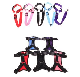 $enCountryForm.capitalKeyWord Australia - Dog Pet Harness Safety Pet Seat Belt For Car Harness Dog Leash Safety Seat Belt Collar Supplies Products Stuff Pads 4 Sizes