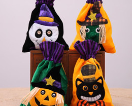 Gift Woven Christmas Bags NZ - Halloween decorations, non-woven creative handbags, children's holiday pumpkin gift bags, Party performances, W164