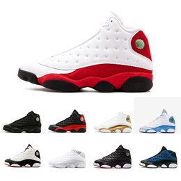 Chinese  Newest 13 13s men basketball shoes Low Chutney Navy blue Pure Money Chicago black cat DMP He Got Game Playoffs men shoes Sneaker manufacturers