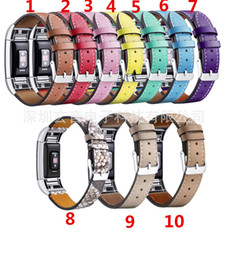 leather fitbit strap UK - Replacement Fitbit Charge 2 Bands Leather Straps Band Interchangeable Smart Fitness Watch Band With Stainless Frame for Charge 2