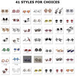 Discount silver enamel cufflinks - 41 Styles Diamond Crystal Cuff Links Cross Crown National Flag Flush Dollars Sign Enamel Cufflinks Cuff Links Franch shi