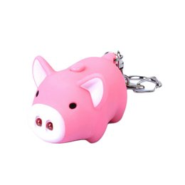 $enCountryForm.capitalKeyWord UK - 3 colors ! cute pig led keychains flashlight sound rings Creative kids toys pig cartoon sound light keychains child gift