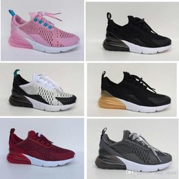 Discount toddlers sneakers shoe - Infant Air Cushion 270 Kids running shoes Black White 270 270s outdoor toddler athletic boy & girl Children sneaker Maxe
