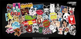 China 50 pcs Funny Car Stickers on Motorcycle Suitcase Phone Laptop Covers DIY Vinyl Decal Sticker Bomb JDM Car styling suppliers