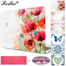 Discount butterfly hard case - Plastic Hard Case For Macbook Air Pro Retina 11 12 13 15 Laptop Case Pro 13 15 Retina Display & Touch Bar Butterfly Flor