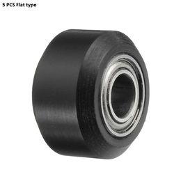 $enCountryForm.capitalKeyWord Australia - 5PCS 3D Printer Flat Type 15.3mm Outer Diameter Height Plastic Pulley Concave Idler Gear