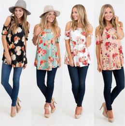 33f738a8855e7c Women floral short jumper online shopping - Slim Summer Ladies Loose Flower  Floral Print Short Sleeved