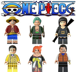 robin figure NZ - legoing ONE PIECE Figures blocks Moneky D Luffy Nami Roronoa Zoro Nico Robin Crocodile building blocks toys gifts