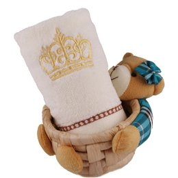 EmbroidEry facE towEls online shopping - 34 cm Luxury Embroidery Crown Pattern Soft Cotton Square Hot Towels for Women Men Mini Bath Hand Towel Turban for Drying Hair