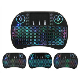 rii gaming keyboard NZ - Air Mouse Rii I8 Wireless Keyboard Keyboards 2.4G Handheld Touchpad gaming keyboard for phone smart MXQ tv box Tablet