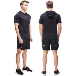 Discount cycling kits - 1 Sets Men Short Sleeve And Shorts Gym Cycling Running Sets football Soccer Kits Vansydical 2017 Summer New Arrivals