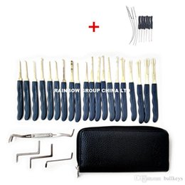 locksmith broken key extractor Australia - 24pcs Hook GOSO Door Lock Pick Set Door Key Pick Set Locksmith TOOLS With Leather Bag + Small Broken Key Extractor Tools