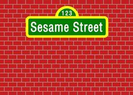 Discount vinyl backdrops bricks - 7x5FT Dark Red Bricks Wall Sesame Street Custom Photo Background Backdrop Vinyl 220cm x 150cm