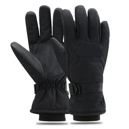 Windproof Thermal Gloves Unisex UK - Winter Skiing Gloves Outdoor Sports Riding Waterproof Windproof Thermal Anti Slip Velvet Thickened Gloves For Unisex