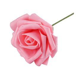 Chinese  Hot Sale 1 Pc 8cm Artificial Foam Rose Flowers Wedding Decoration Hand-make Craft Scrapbooking Home Decor Diy Flower Bouquet manufacturers