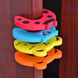 Discount cute door stoppers - Child kids Baby door stopper cute Animal Cartoon Door holder lock Safety Guard safety gates
