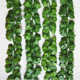 Wholesale 2 M Wired Ivy Leaves Garland Silk Artificial Vine Greenery For Wedding Home Office Decoratiove Wreaths New Style