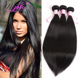 Long weave hair online shopping - 9A Unprocessed Brazillian Straight Virgin Hair Inch Available Brazilian Human Hair Extension Straight Hair Weave Bundles Long Inch