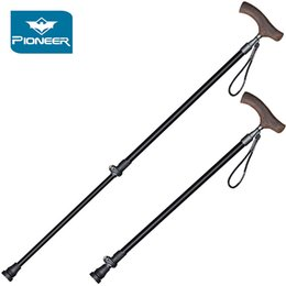 walking sticks for hiking Canada - Collapsible 2 Section Telescopic Trekking Poles 7075 Aluminium Alloy Walking Sticks Hiking Trekking Cane Lightweight For Elderly C18110601
