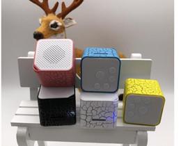 Black Blocks Canada - Mini loudspeaker external card MP3 block seven color lamp outer voice MP3 players walkman