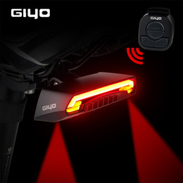 $enCountryForm.capitalKeyWord Australia - GIYO Bicycle Tail Light USB Rechargeable Mount Riding Seatpost Lamp Rear Taillight Led Turn Signals Cycling Light Bike Lantern